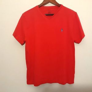 Polo Ralph Lauren red short sleeve v-neck t-shirt